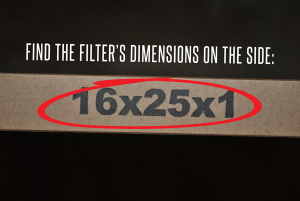 Where your filter is located on your internal HVAC unit.