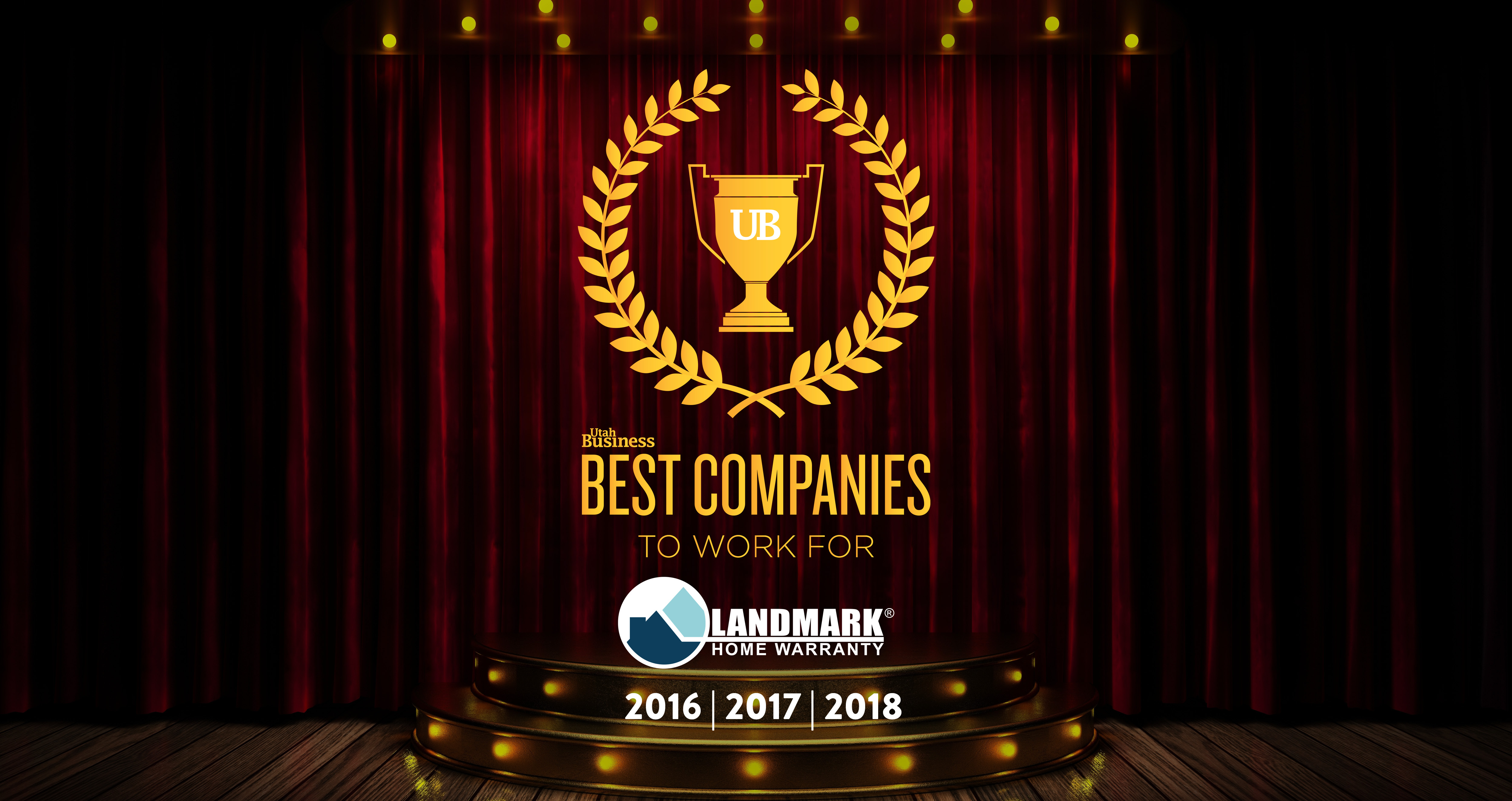 Landmark Home Warranty was rated one of the best companies to work for in Utah for the third year in a row.