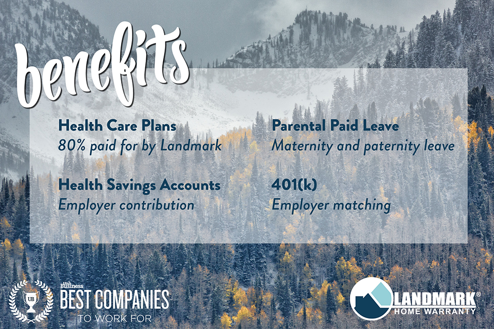 Landmark Home Warranty's benefit package was one reason they were named one of the best places to work.