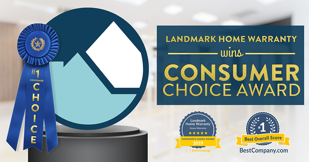 Landmark Home Warranty won the Consumer Choice award for 2019 from Best Company.