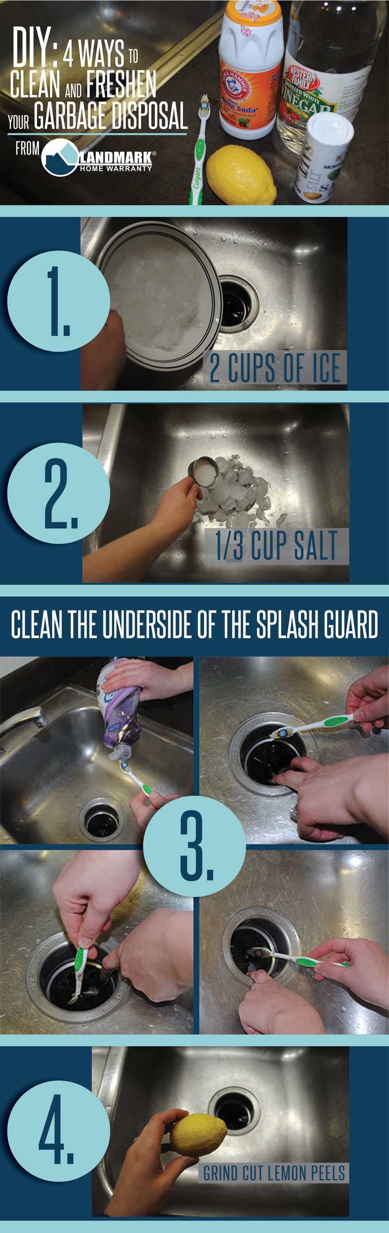 DIY Clean And Rid Smells From A Garbage Disposal