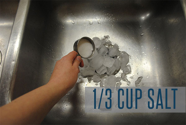 Salt can help remove food from your garbage disposal