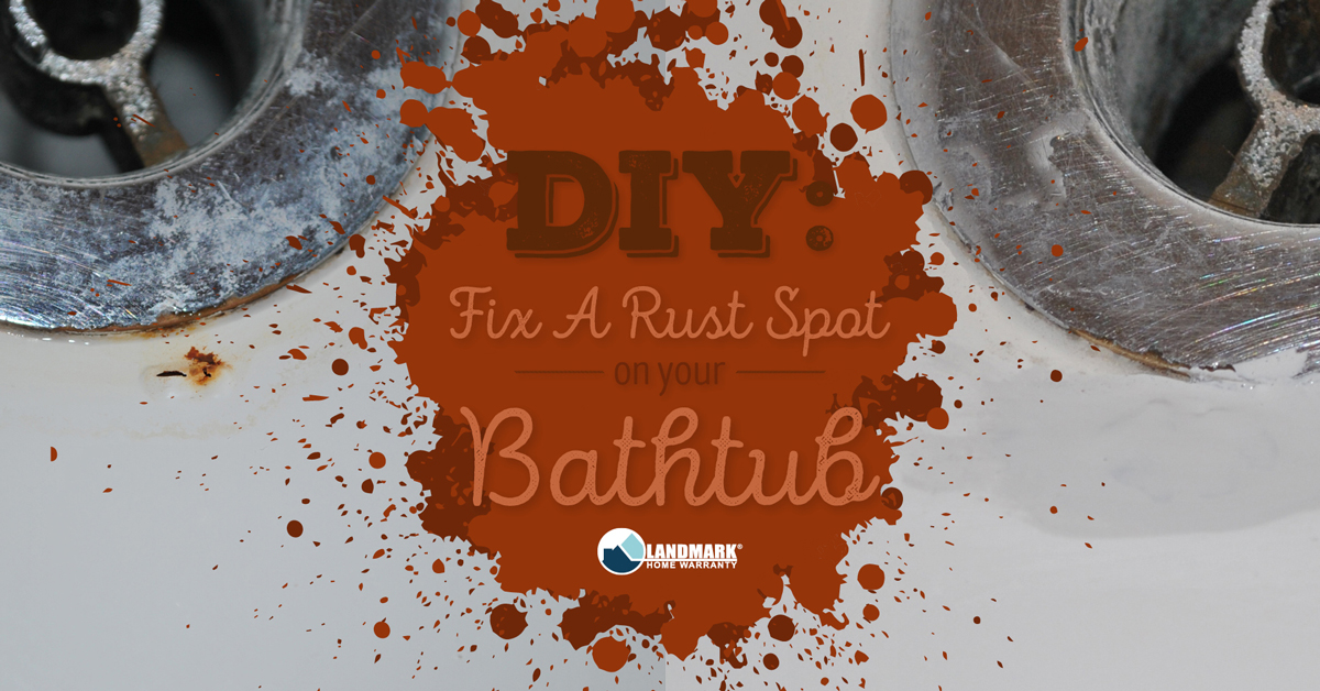 Fix a rust spot on your tub quickly and easily.