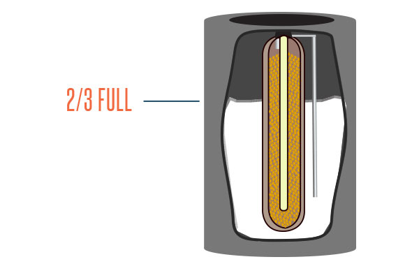 Fill your water softener back up 2/3 a way with salt.