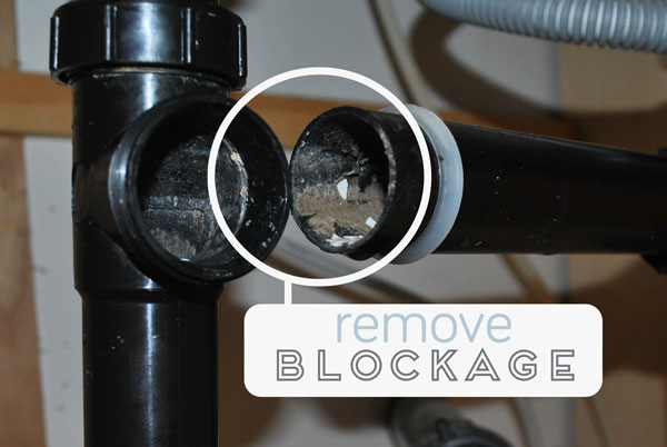 Remove the blockage in your plugged plumbing.