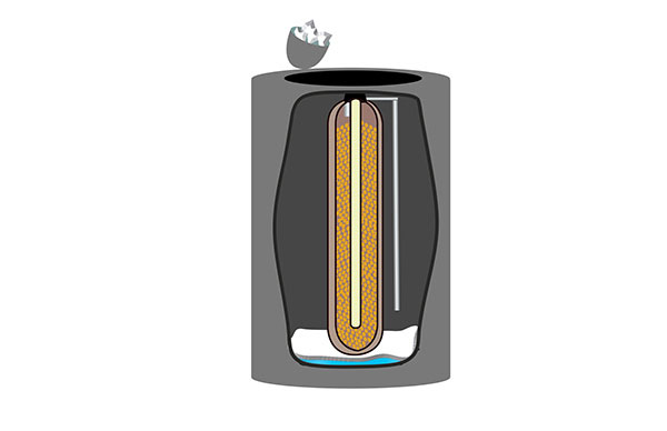 Next, remove as much salt as you can from the water softener.