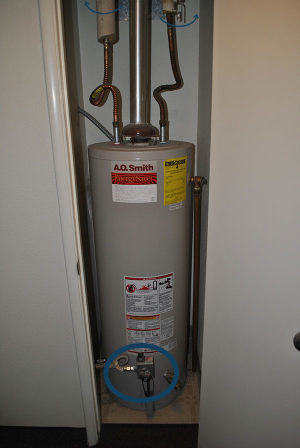 Turn off your water heater to begin descaling your pipes.