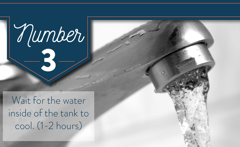 Let the water cool inside of your tank before draining your water heater.