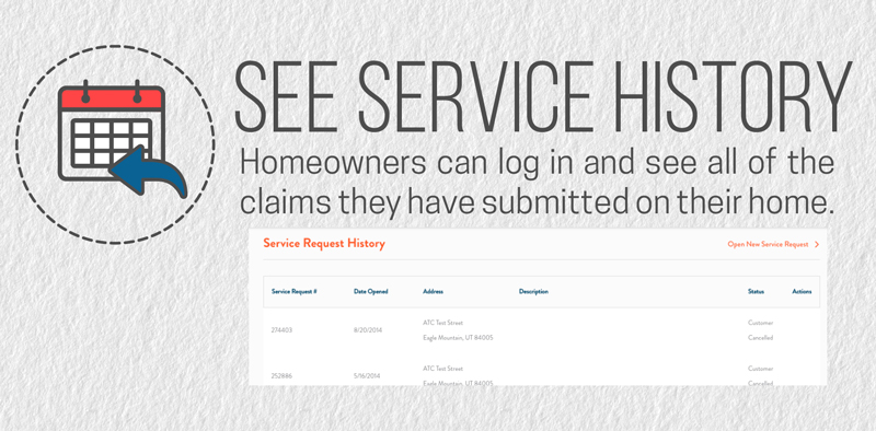 Homeowners cannot view their service request history on their home warranty plan without a valid email address.