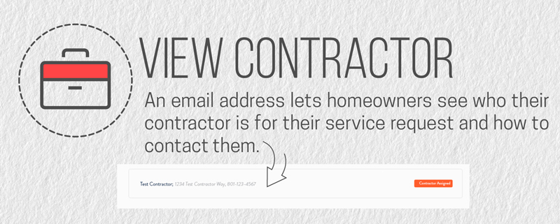 Homeowners cannot see their assigned home warranty contractor without an email address.