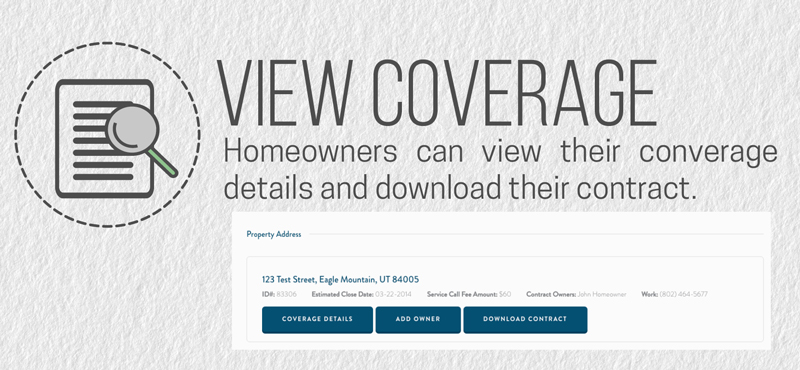 Homeowners can view their coverage online when they have an email attached to their home warranty.