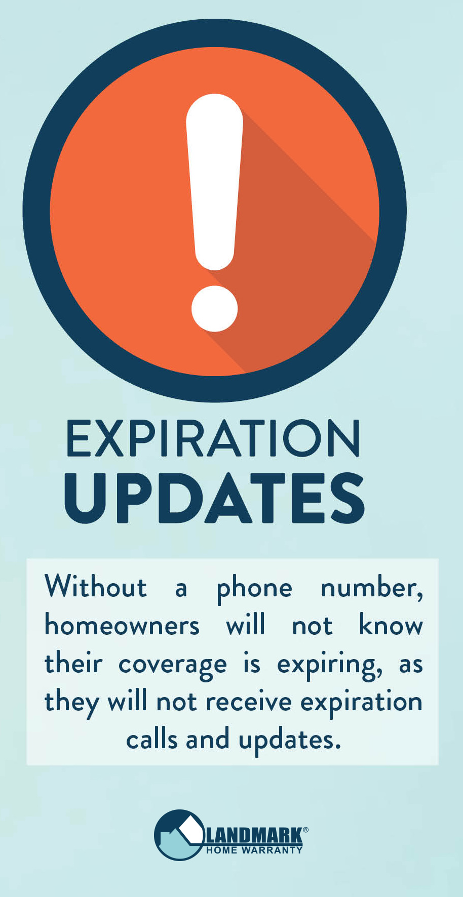 Without a phone number homeowners cannot get expiration date updates.