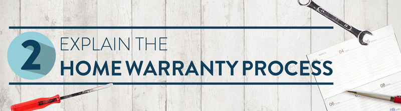 Teach your clients about the home warranty process.