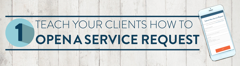 Educate your clients on how to open a service request with their home warranty company.