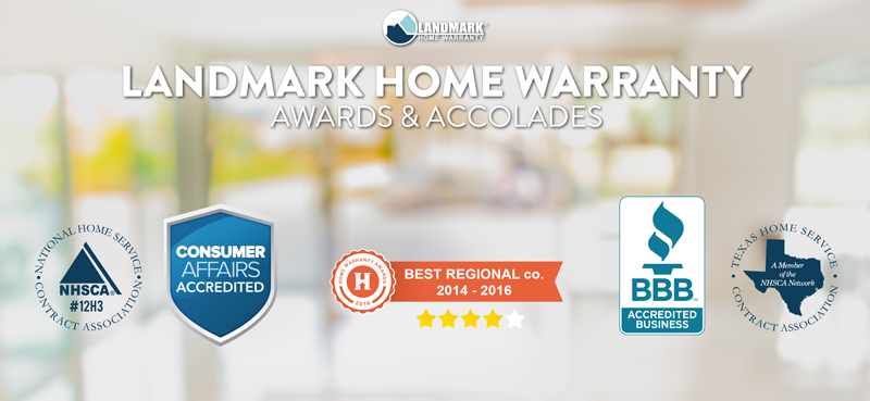 Landmark Home Warranty has multiple awards and accolades for their customer service.