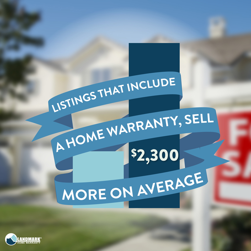 A home warranty selles a home for more money.