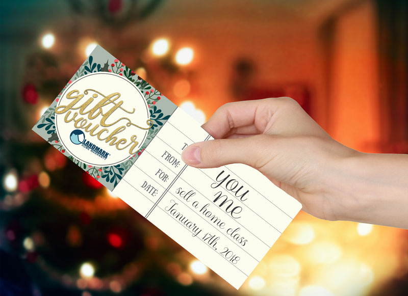 Real estate marketing tip 3: Provide gift certificates for buying or selling a home class.