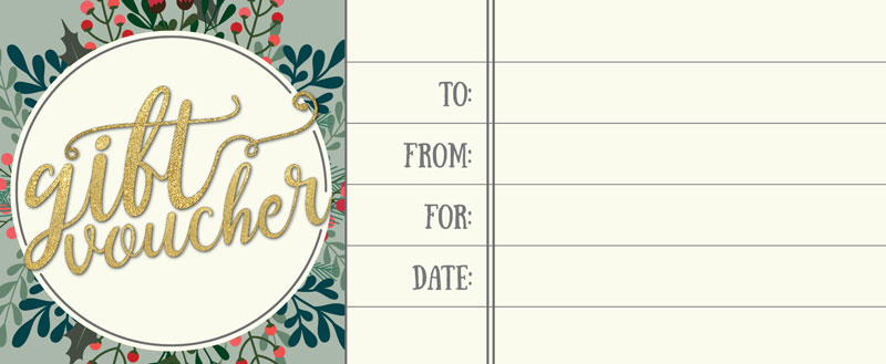 Click here to download a free gift voucher printable.
